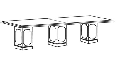 Picture of 10' Rectangular Traditional Conference Table