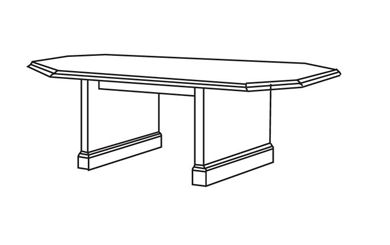 "Picture of 72"" Octagonal Traditional Conference Table"