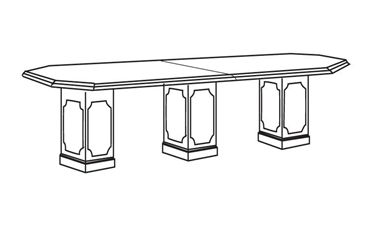 Picture of 12' Octagonal Traditional Conference Table