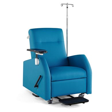 Picture of Healthcare Patient Recliner with IV Pole and Tablet Arm