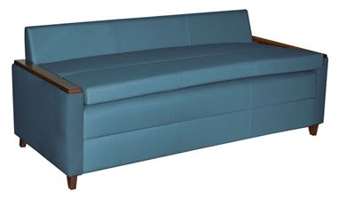 Picture of Healthcare Lounge Sofa Bed with Wood Arm Caps