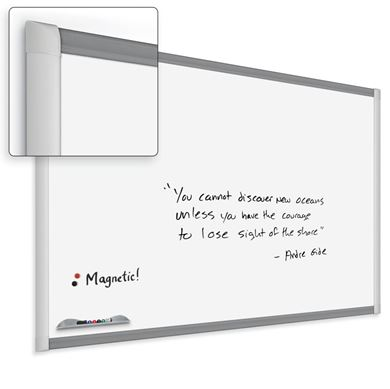 Picture of 4'H x 6'W  Porcelain Steel Trim Whiteboard