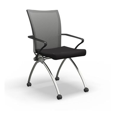 Picture of Mesh Back Mobile Nesting Arm Chair