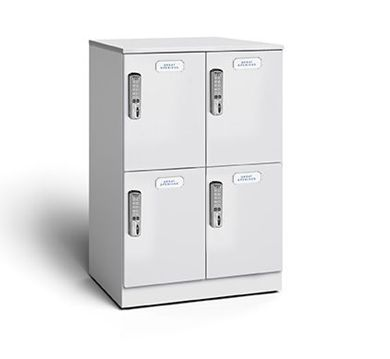 Picture of 2 Pack, Double Tier 4-Door Cubby Lockers with Digital Locks