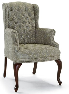 Picture of High Back Traditional Tufted Wing Back Arm Chair
