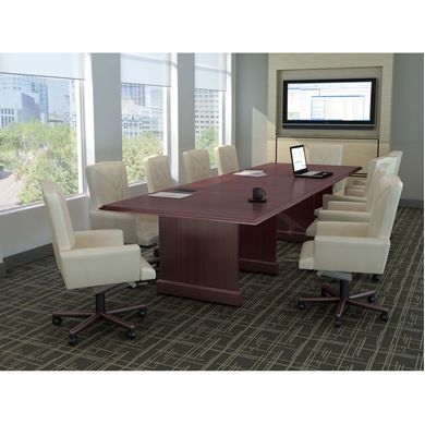 Picture of 10' Traditional Conference Table with 10 Each Traditional Swivel Chairs