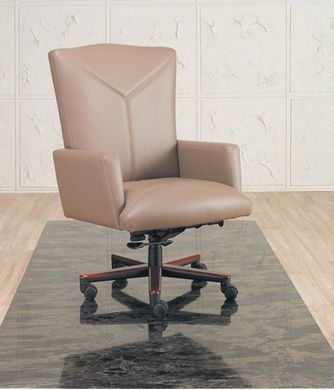 Picture of Traditional High Back Conference Chair with Wood Base