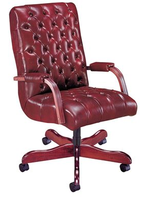 Picture of Traditional High Back Tufted Swivel Conference Chair