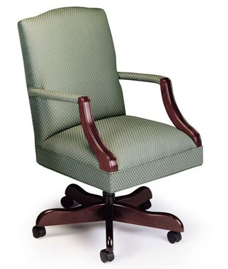 Picture of Traditional Managerial Office Conference Chair with Wood Base