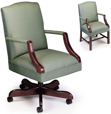 Picture of Set of 2, Traditional Managerial Conference Chair with Matching Guest Chair