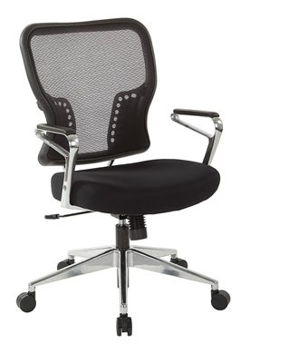 Picture of Mid Back Mesh Task Chair with Aluminum Arms and Base