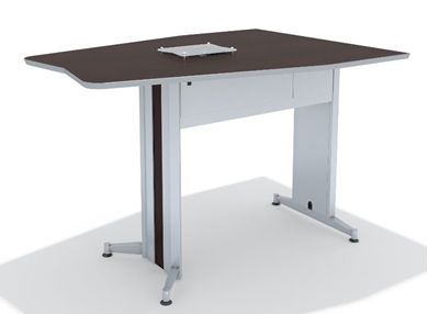 Picture of 72' Standing Height Contemporary Conference Table with Power Access