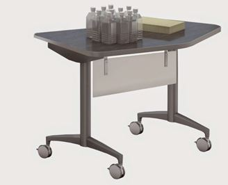 "Picture of 48"" Mobile Flip Training Table with Modesty Panel"