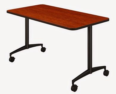 """Picture of 54"""" Mobile Training Table, Fixed Top"""