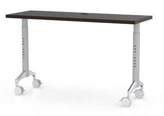 """Picture of 42"""" Height Adjustable Mobile Training Table, Fixed Top"""