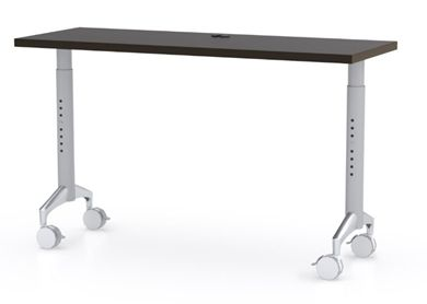 "Picture of 48"" Height Adjustable Mobile Training Table, Fixed Top"