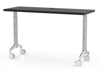 "Picture of 60"" Height Adjustable Mobile Training Table, Fixed Top"