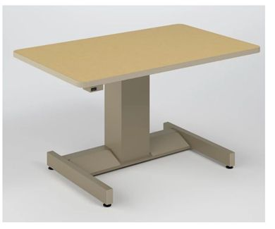 "Picture of 42""W Powered Height Adjustable Table"