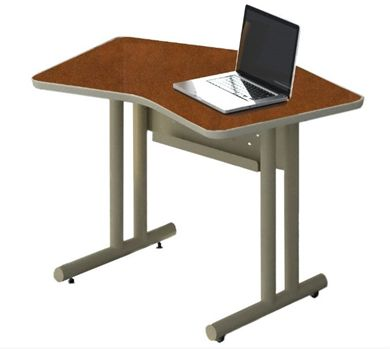 "Picture of Set of 2, 48""W Curved Training Table"