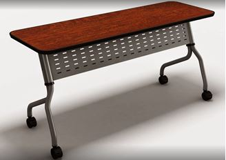 """Picture of Set of 2, 48"""" Mobile Flip Top Nesting Training Table"""