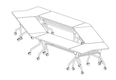 Picture of Modular Mobile Oval Training Table Set