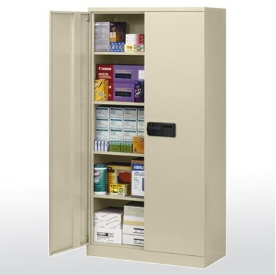 """Picture of 48"""" Keyless Electronic Lock Cabinet With 4 Adjustable Shelves"""