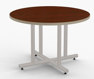 """Picture of Pack of 5, 48"""" Round Cafe Meeting Table"""