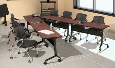 Picture of Mobile V Shape Conference Meeting Table