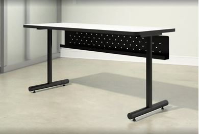 """Picture of Pack of 6, 48""""W Training Table with Modesty Panel, Fixed Base"""