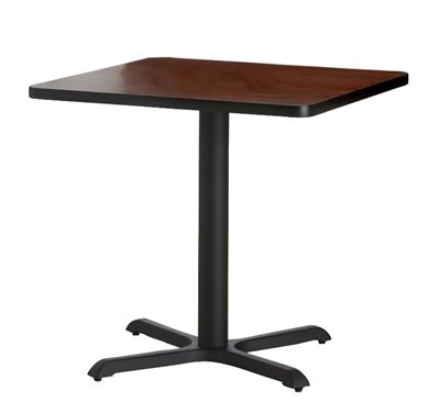 """Picture of Pack of 6, 30"""" Square Cafe Table with Cast Iron Base"""