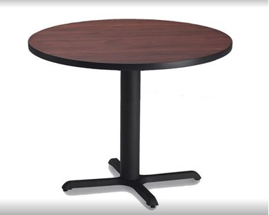 """Picture of Pack of 6, 42"""" Round Cafe Table with Cast Iron Base"""