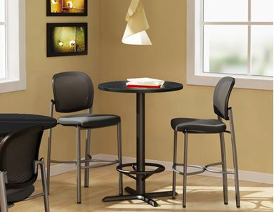 """Picture of Pack of 5, 36"""" Round Bar Height Cafe Table"""