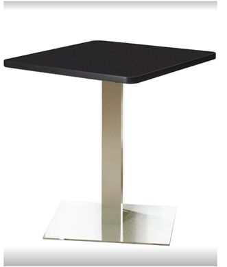 """Picture of Pack of 6, 30"""" Square Cafe Table with Stainless Base"""
