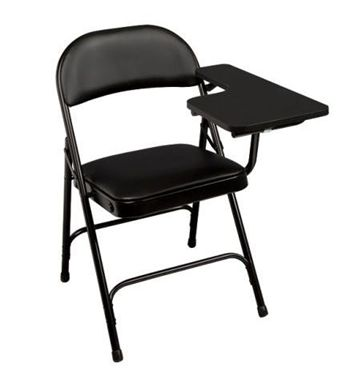 Picture of Pack of 4, Metal Folding Chair with Tablet Arm