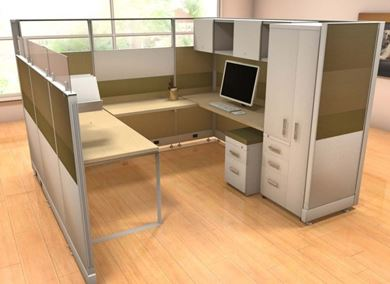 Picture of 8' X 8' Powered U Shape Privacy Cubicle Workstation