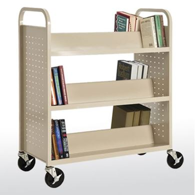 Picture of 6-Double Sided Shelf Booktruck