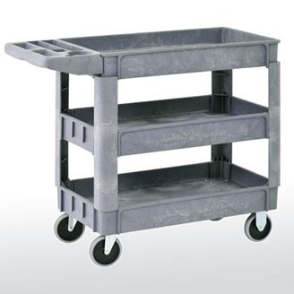 Picture of Plastic Utility Cart With 3 Shelves