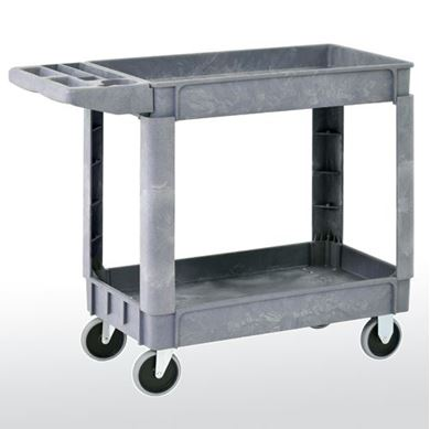 Picture of Plastic Utility Cart With 2 Shelves