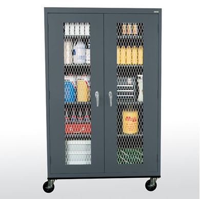 Picture of  Metal Front Transport Mobile Cabinet With Adjustable Shelves