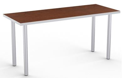 """Picture of Set of 4, 66"""" Fixed Training Table with 4 Legs"""