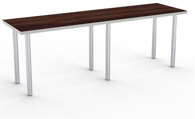 """Picture of Set of 4, 96"""" Fixed Training Table with 4 Legs"""