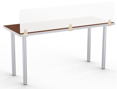 "Picture of Set of 4, 48"" Fixed Training Table on 4 Legs with Privacy Divider"