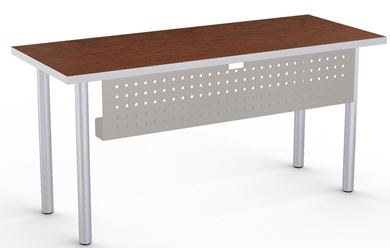 "Picture of Set of 4, 48"" Fixed Training Table on 4 Legs with Modesty Panel"