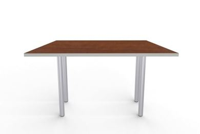 """Picture of Set of 4, 60"""" Trapezoid Shape Fixed Training Table on 4 Legs"""