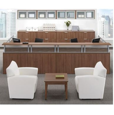 Picture of U Shape Reception Desk with Lateral Storage