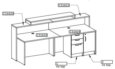 Picture of Reception Desk with Filing Storage Cabinet