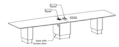 Picture of 14' Boat Shape Conference Table with Power Module