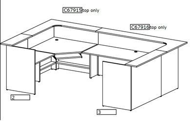 Picture of U Shape Reception Desk Workstation