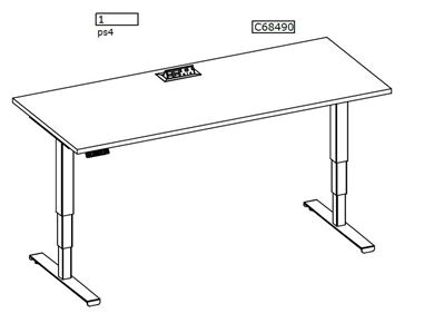 Picture of Pack of 20, Powered Height Adjustable Table with Power Module