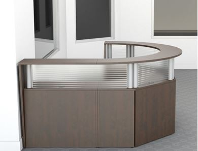 Picture of Half Circular Curved Reception Desk